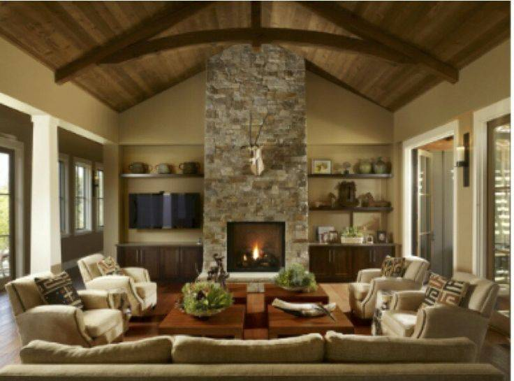 Great Room Fireplace Decorating Ideas