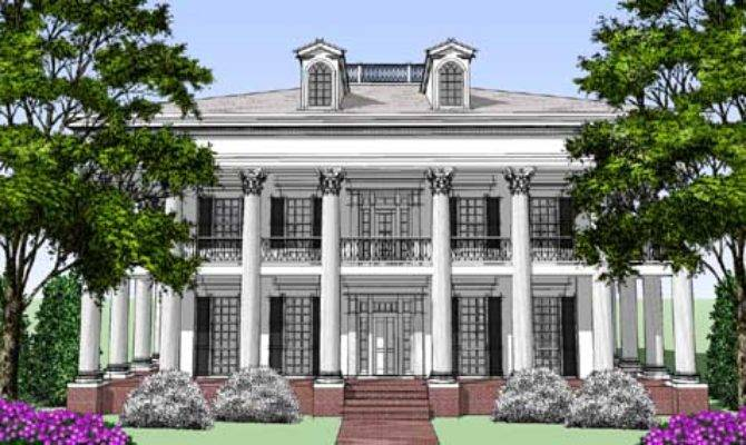 Greek Revival House Plan Bedrooms Bath