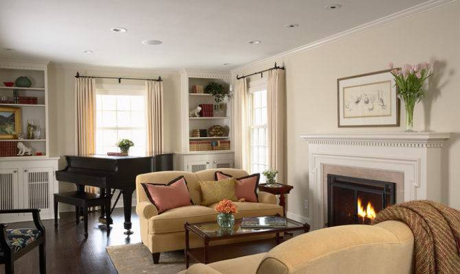 Greek Revival Remodel Living Room Traditional
