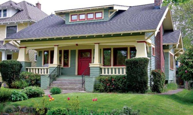 Green Bungalow Contemporary Prairie Style House Plans