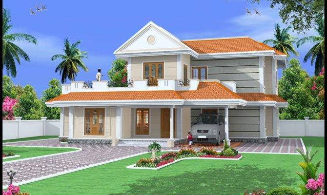 Green Homes Construction Indian Style Duplex House