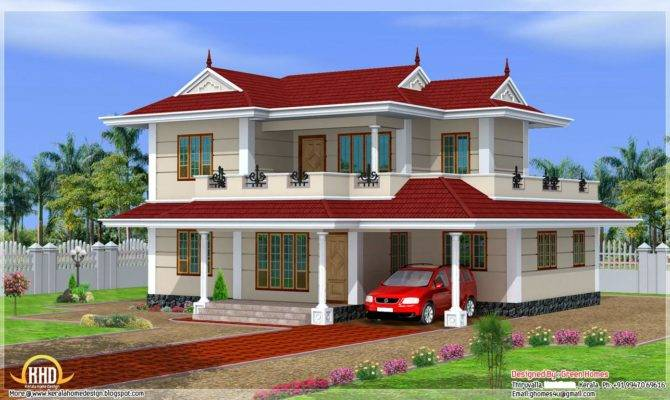 Green Homes Feet Double Storey Home Design