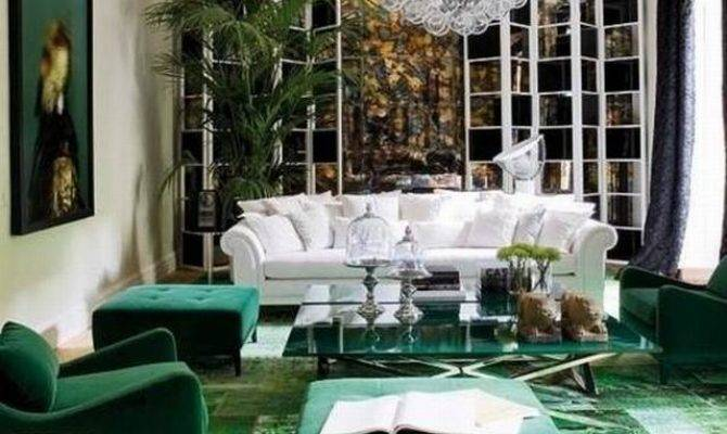 Green Living Room Ideas Fall