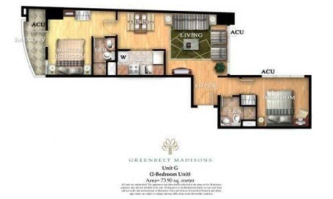 Greenbelt Madisons Bedroom Unit Floor Plan Home Condo