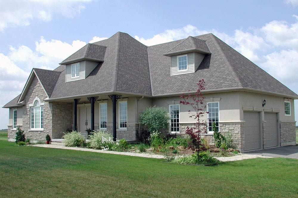 Grey Stucco Stone Homes Shouldice