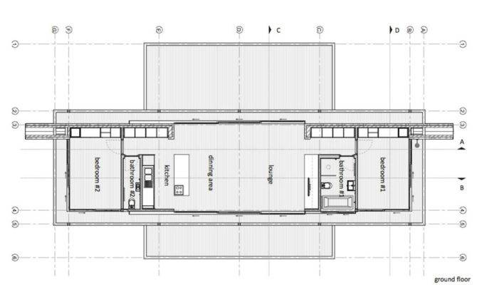 Ground Floor Plan Compact Contemporary Home Johannesburg South