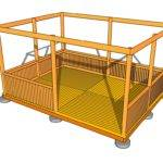 Ground Level Deck Plans Pergola Rectangular Gazebo