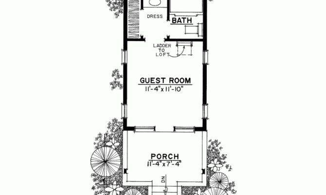 Guest House Square Feet Bedroom Eplans Plan