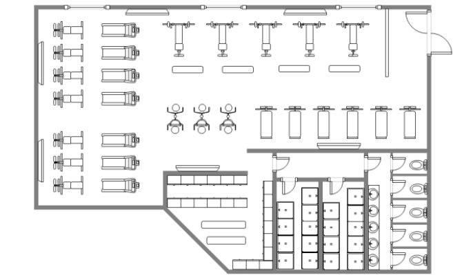 Gym Design Floor Plan Templates