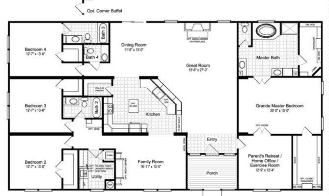 Hacienda Iii Vrwd Home Floor Plan Manufactured