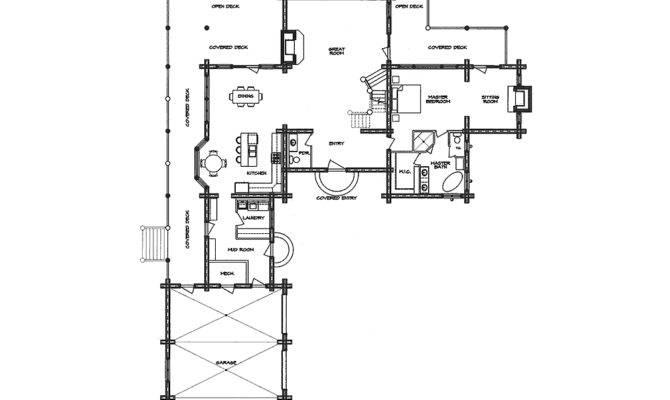 Hacienda Log Home Floor Plan