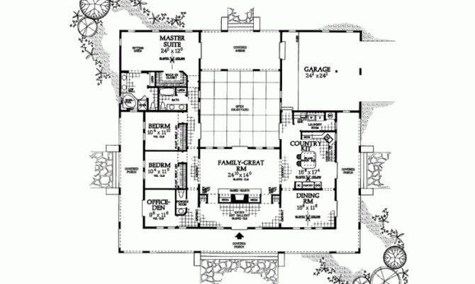 Hacienda Style Home Plans Courtyards Improvement
