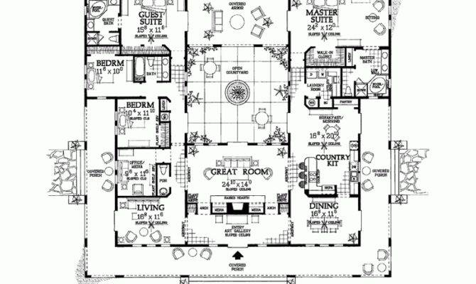 Hacienda Style House Plans Smalltowndjs