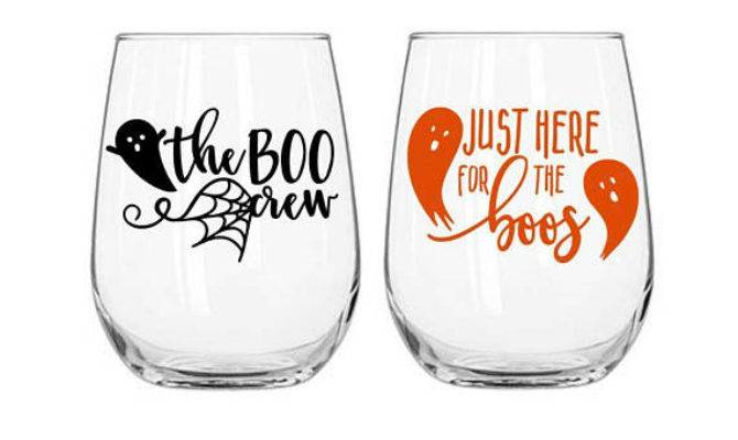 Halloween Decals Wine Glass Decal