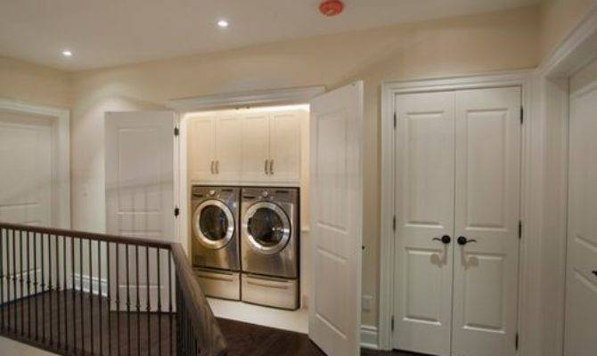 Hallway Laundry Home Design Ideas Remodel Decor