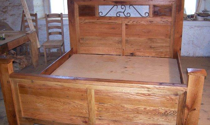Hand Forged Wrought Iron Accents Craftsman Style Platform Storage Bed