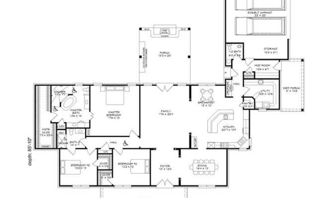Handicap Accessible House Plans Bedroom Home