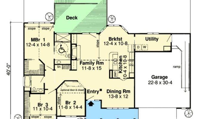 Handicap Accessible Ranch Home Plan Floor