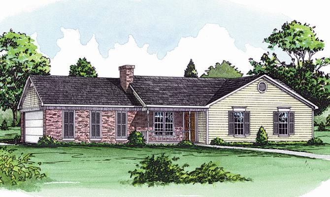 Hannegan Traditional Ranch Home Plan House Plans More