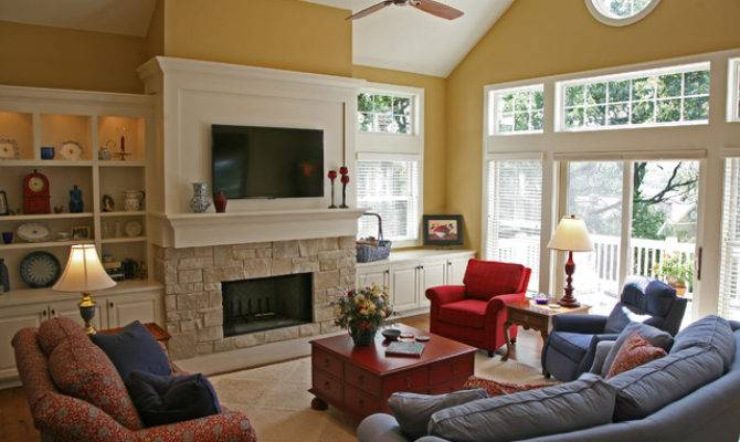 Happy French Country Retreat Traditional Living Room