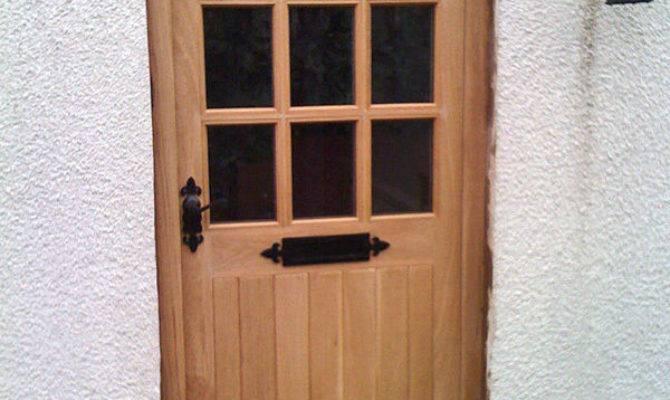 Hardwood Front Door Georgian Style Low Price Made
