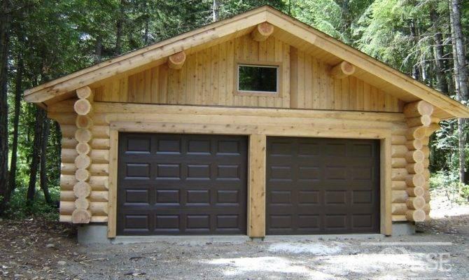Harmonious Log Garage Plans Architecture