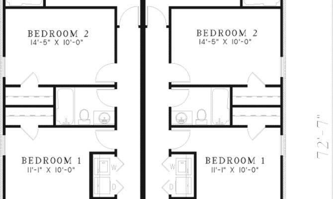 Harris Ridge Duplex Home Plan House Plans More