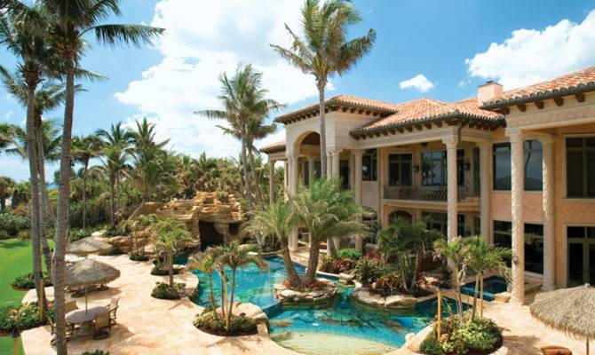 Hawaii Beach Mansions Oceanfront Mega Mansion