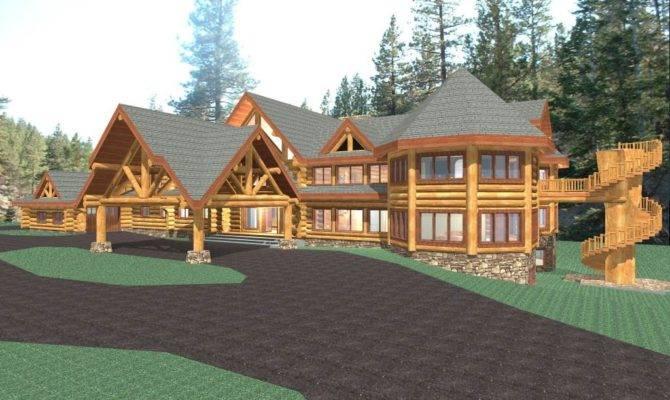 Hawkeye Luxury Log Home Plans Cabin Kit