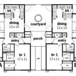 Henderson Place Duplex Home Plan House Plans More