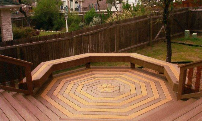 Here Cool Octagon Shaped Custom Deck Design House Plans 4780