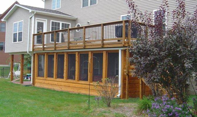 Here Home Decor Deck Ideas Under Screen Porch House Plans 54506