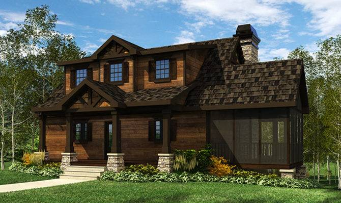 Here Home House Plans Acadia Mountain Cottage Plan