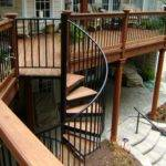 Here Second Story Deck Neat Curved Staircase