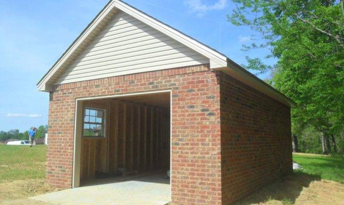 Here Small Detached Brick Garage Home Plans Blueprints