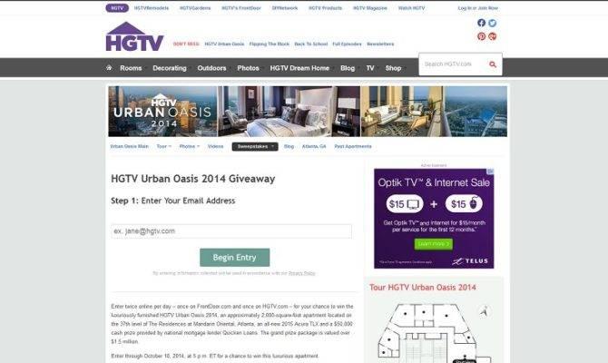 Hgtv Oasis Giveaway Form Upcomingcarshq