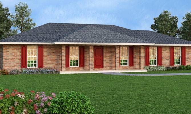 Hickory Cliff Ranch Home Plan House Plans More