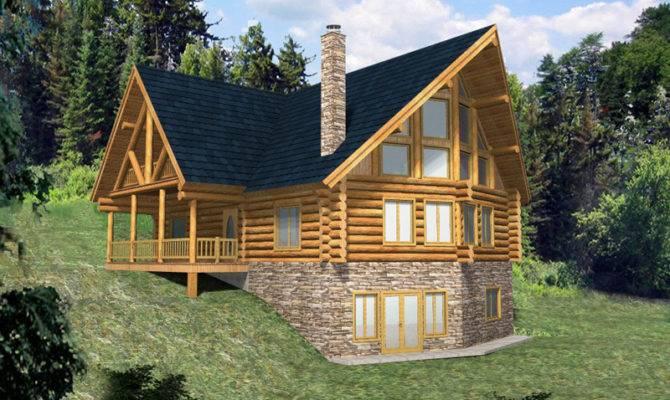 Hickory Creek Frame Log Home Plan House Plans More
