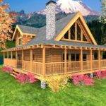 High Cabin Home Plans Log Floor Wrap