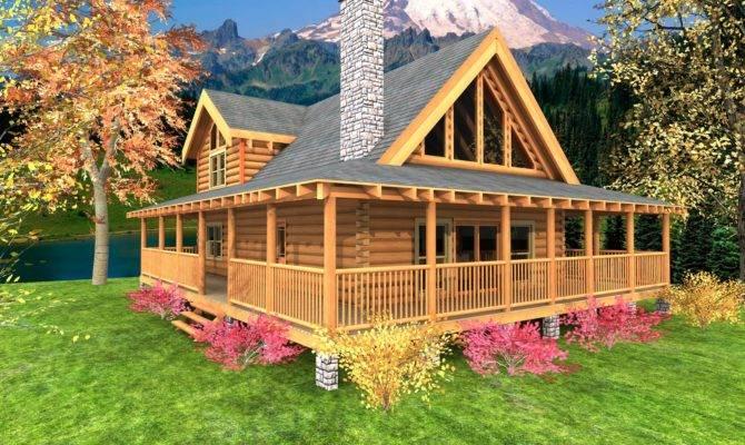 High Cabin Home Plans Log Floor