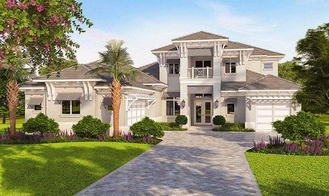 High End Florida House Plan Architectural