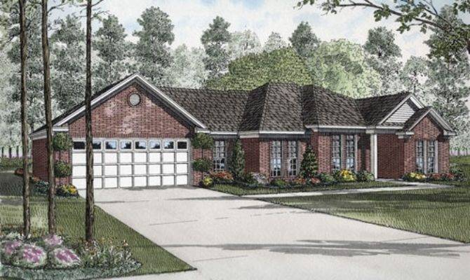 High Golf Course House Plans Brick Ranch