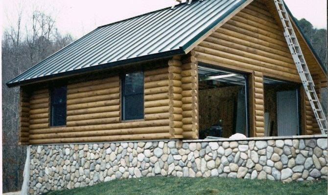 High Log Garage Homes