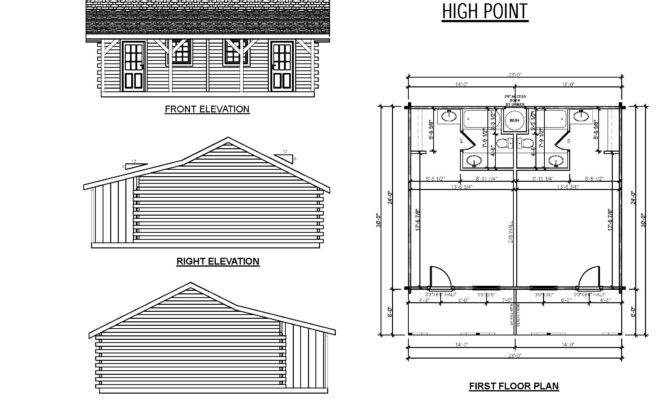 High Point Plans Little Trace Mcfarland Creek Perspective