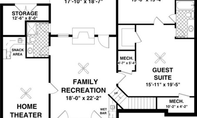 High Quality Home Plans Basements Ranch House