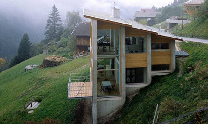 Hill Houses Designs Austrian Exposed House