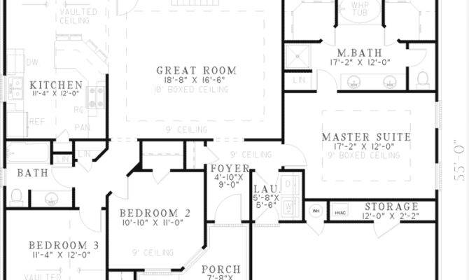 Hillsgate One Story Home Plan House Plans More