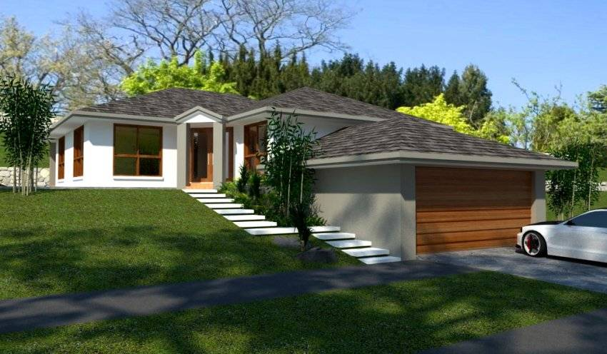 Bedroom House Plan Sloping Land