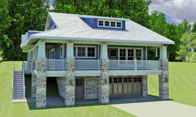 Hillside Home Plans Walkout Basement Small
