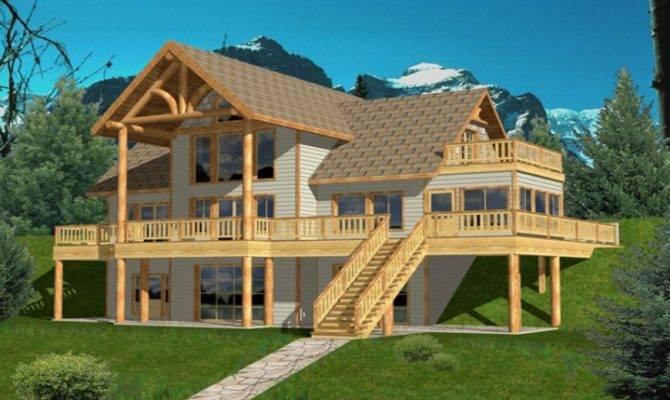 Hillside House Plans Rear Lake